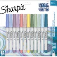 Marqueurs permanents édition spéciale Mystic Gem Sharpie, couleurs assorties, pointe ultra fine, emb. de 12