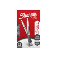 Sharpie S-Gel stylos bronze à canons du corps, pointe moyenne (0,7 mm), encre noir, 12 unités