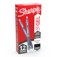 Sharpie S-Gel Ink Pens, Black, Medium 0.7 mm, 12/BX