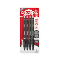 Sharpie S-Gel stylos gel, couleurs variées, moyenne 0,7 mm, emb. de 4