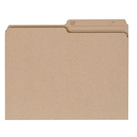 Grand & Toy Recycled File Folders, Natural, Letter-Size, 10/PK