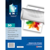 Gemex Letter-Size Thermal Laminating Pouches, 3 mil, Pack of 50