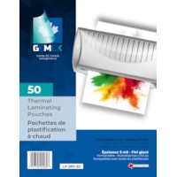 Gemex Letter-Size Thermal Laminating Pouches, 5 mil, Pack of 50