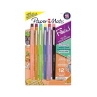 Paper Mate Flair Scented Felt Tip Pens, Assorted Sunday Brunch Scents and Colours, 0.7 mm, Pack of 12