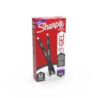 Sharpie S-Gel Ink Pens, Purple, Medium 0.7 mm, Box of 12