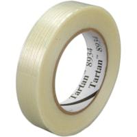 3M Tartan 8934 Filament Tape, Clear, 24 mm x 55 m