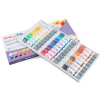 Pentel Arts Couleur Aquarelle, Couleurs Assorti, boîte de 24