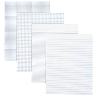 Grand & Toy Economy Letter-Size Pads, White with Quad Rule (4 sq), 8 1/2
