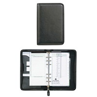 Day-Timer Faux Leather Zippered 12-Month Daily Organizer/Planner Starter Set, 6 3/4