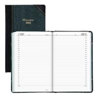 Agenda quotidien 12 mois Brownline, noir et vert, 13 3/8 po x 8 po, janvier à décembre, anglais