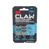 Crochet pour cadres pour cloisons sèches 3PH15M-5EF CLAW 3M(MC) avec outil de marquage temporaire, supporte 15 lb, emb. de 5