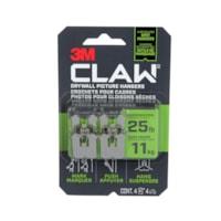 Crochet pour cadres pour cloisons sèches CLAW 3M avec outil de marquage temporaire, supporte 25 lb, emb. de 4