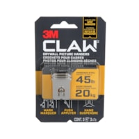Crochet pour cadres pour cloisons sèches CLAW 3M avec outil de marquage temporaire, supporte 45 lb, emb. de 3