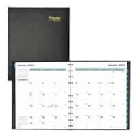 Agenda académique mensuel MiracleBind Blueline, 11 po x 9 1/16 po, noir, septembre à décembre, bilingue