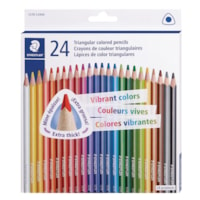 Staedtler Triangular Coloured Pencils, Assorted Colours, Pack of 24