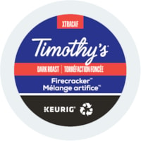 Timothy's® Single-Serve Coffee K-Cup Pods, Firecracker, Box of 24