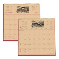 Brownline 12-Month 2-Sided Monthly Wall Calendar, 11