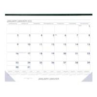 Sous-main calendrier mensuel Grand & Toy, 22 po x 17 po, 13 mois (janvier à janvier), bilingue