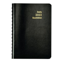 Grand & Toy 12-Month Daily Softcover Planner, Black, 8