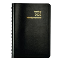 Grand & Toy 12-Month Weekly Planner, Black, 8
