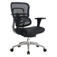 WorkPro® 12000 Mesh Series Ergonomic Mid-Back Manager's Chair, Black/Chrome