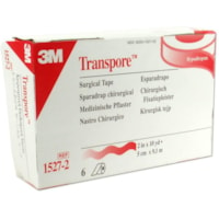 3M Transpore Plastic Hypoallergenic Surgical Tape, Clear, 2