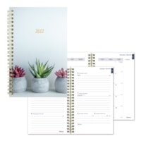 Blueline Succulent Weekly/Monthly Planner, January to December, 8