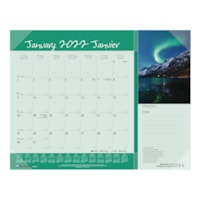 Blueline Canadian Provinces 12-Month Monthly Desk Pad Calendar, 22