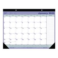 Sous-main calendrier mural mensuel Blueline, 21 1/4 po x 16 po, 12 mois (janvier à décembre), anglais