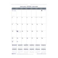 Blueline Net Zero Carbon 12-Month Monthly Wall Calendar, 12