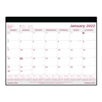 Brownline 12-Month Monthly Desk Pad Calendar with Holder, 24 1/4