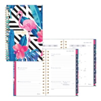 Blueline 13-Month Academic Weekly/Monthly Planner, Flamingo Design, 8