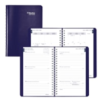 Blueline 13-Month Weekly/Monthly Academic Planner, Blue, 8