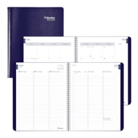 Blueline 13-Month Weekly/Monthly Academic Planner, Blue, 11