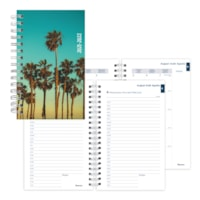 Blueline 12-Month Daily/Monthly Academic Planner, Green Cali Design, 8