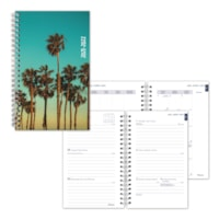 Blueline 13-Month Weekly/Monthly Academic Planners, Green Cali Design, 8