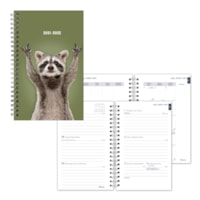 Blueline 13-Month Weekly/Monthly Academic Planners, Racoon, 8