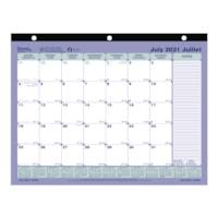 Blueline 13-Month Academic Monthly Desk Pad Calendar, Blue, 11