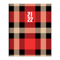 TF Publishing 12-Month Academic Monthly Planner, Red Plaid, 6 1/2