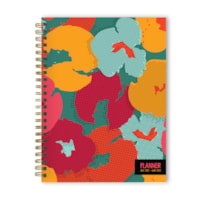 TF Publishing Academic Weekly/Monthly Planner, Halftone Flowers, 6 1/2