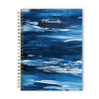 TF Publishing 12-Month Medium Academic Weekly/Monthly Planner, Painted Blues, 6 1/2