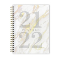 TF Publishing Academic Weekly/Monthly Planner, Marble, 6 1/2
