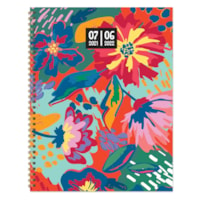 TF Publishing Academic Large Weekly/Monthly Planner, Painted Flowers, 9