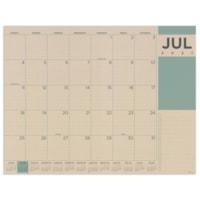 TF Publishing 12-Month Academic Monthly Desk Calendar, Kraft, 17