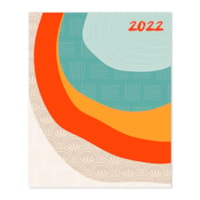 TF Publishing Monthly Planner, Concentric Print, 6 1/2