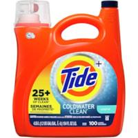 Détergent à lessive liquide Tide haute efficacité (HE) Turbo Clean Coldwater Clean, parfum original, 4,55 L