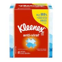 Mouchoirs à 3 épaisseurs Anti-Viral Kleenex, blanc, boîte de 60 mouchoirs