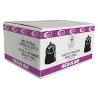Sacs à ordures utilitaires de qualité industrielle Eco II, transparents, 24 po x 24 po, caisse de 500