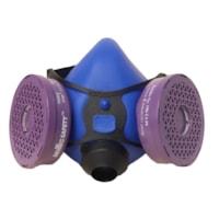 Demi-masque respiratoire Dentec Comfort-Air® série 100 P100, Bleu, Moyen