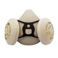 Dentec Comfort-Air® Series 400NxMD Demi-masque respiratoire sans soupape d'expiration avec filtres N95, blanc, moyen/grand